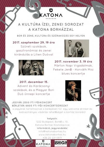 A kultúra ízei - zenei estek a Katona Borházzal Budafokon